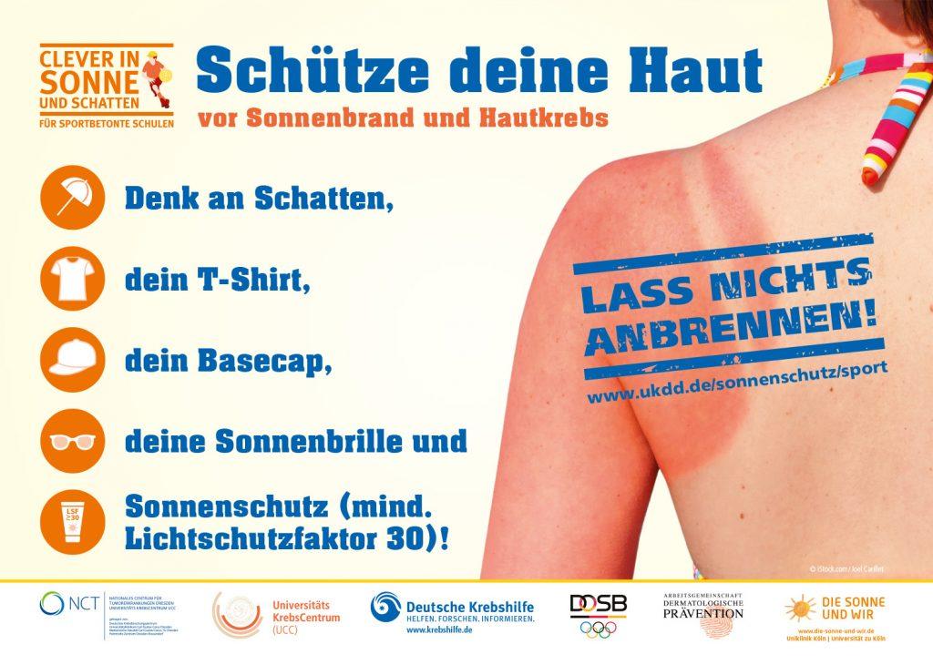 Clever in Sonne und Schatten - Verhaltenscheck-Poster für Sportler-innen