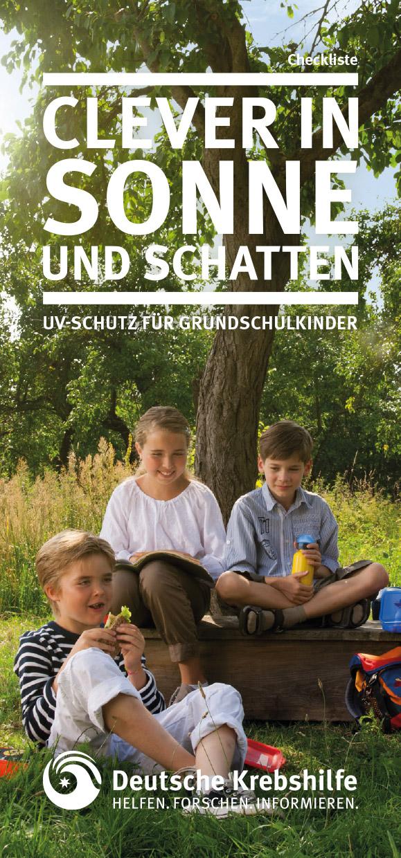 Clever in Sonne und Schatten - Checkliste für Grundschulkinder
