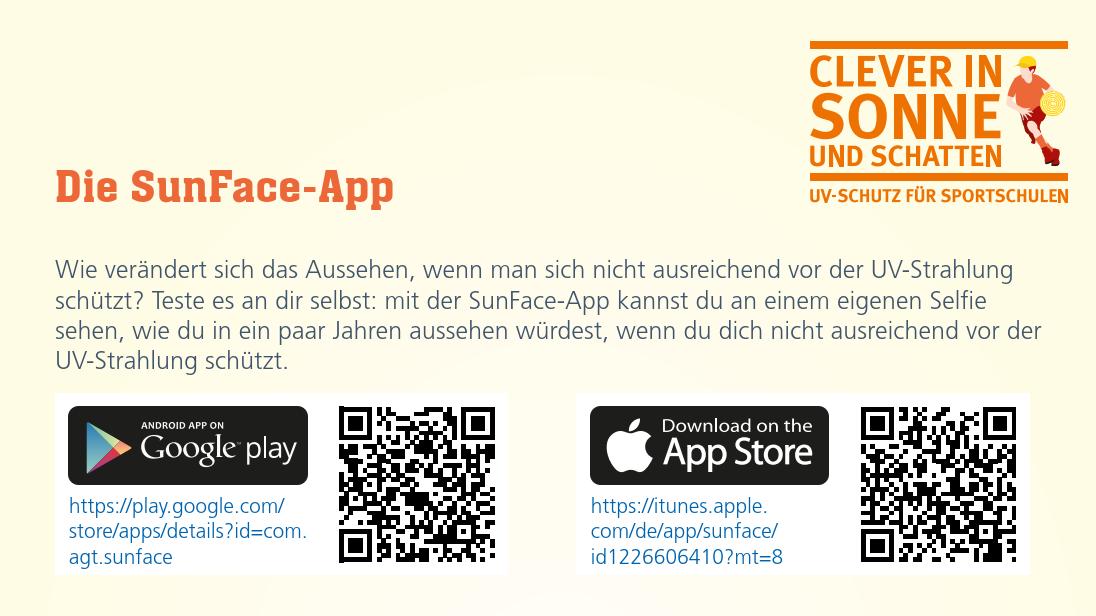 Arbeitsblatt Sun-Face App Image