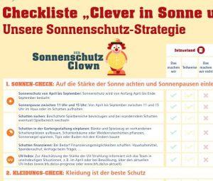 Checkliste zur Sonnenschutz-Strategie Image