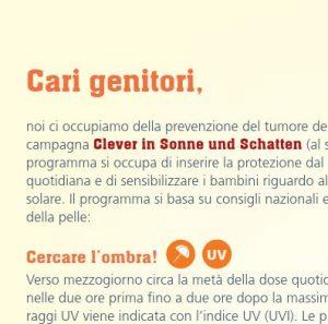 Elterninformationen SonnenschutzClown (Italienisch) Image