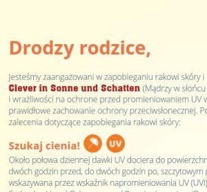 Elterninformationen SonnenschutzClown (Polnisch) Image