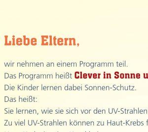 Elterninformationen SonnenschutzClown in einfacher Sprache Image