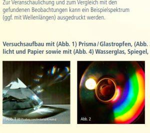 Experiment Farben der Sonne - das sichtbare Licht Image