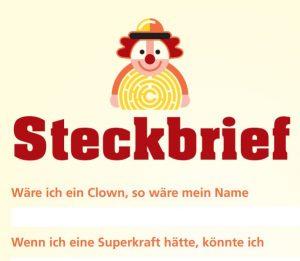 Steckbrief Clown Image