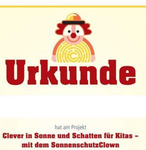 Urkunde SonnenschutzClown Image